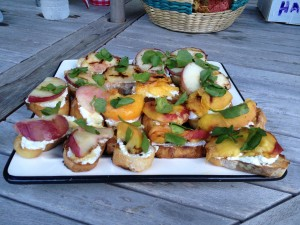 Grilled Peach & Ricotta Toast