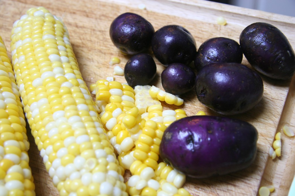 purple pot corn